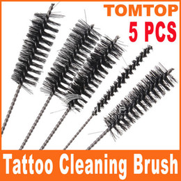 Wholesale 5pcs set Tattoo Tip Grip Tube Machine Cleaning Brush Set H8326