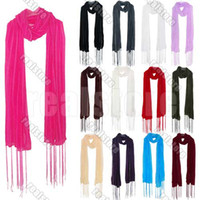 Wholesale 10 Girls Women s Strip Candy Colour Tassel Large Long Soft Scarf Wrap Shawl Stole