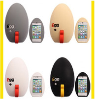 Wholesale Soft Silicone gel egg Design Stand Cute Case with Holder Skin Cover for iphone4 G NO S