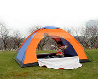 Wholesale New Double family tent double door couple lovers hiking camping tent outdoor waterproof tent