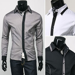 Wholesale 2012 New Mens Shirts Casual Slim Fit Stylish Mens Dress Shirts