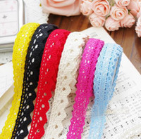 Wholesale 2 m Cute Light Colors Fabric Lace Tape Stick Tape Stationery Tape Office Adhesive Tape Fas Color