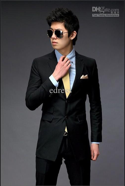 Gallery For > Black Suit For Men Wedding
