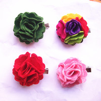 Wholesale Hot new children s hair accessories flower hair clips nonwovens hair pin