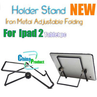Wholesale 9 inch Iron Metal Adjustable Folding Holder Stand for ipad Android Tablet pc Hot sale