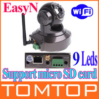 Wholesale Aluminium alloy EasyN Wireless IR WiFi CCD IP Camera Alarm Monitor with LEDs and nightvision S92