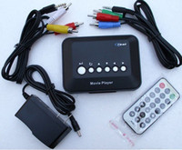 Wholesale RM RMVB MP5 HD Media Player Center USB HDD SD MS AVI DVD DIVX MP3 RMVB