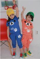 2T-3T Boy and Girl  Summer Children clothes 2013 summer Boy and Girl set girl suit boys outfit kids wear T shirt + Pants