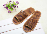 Wholesale New Arrival Natural Hemp Flax Jute Sandals Slippers Flip Flops Slides