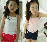 Wholesale New Girls Tank Tops Suit Vest Short Pants Girls Summer Clothes Girl Set Kid Wear