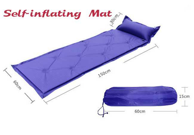 new outdoor air mattress camping inflatable bed mat travel pad for single camping mat camping pad travel bed online with 4154piece