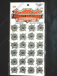 Wholesale Best Selling M Vinyl Bullet Holes Car Sticker Motorcycle Decoration Accessories hole HOT