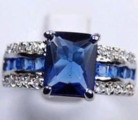 al por mayor oro al por mayor 14k-Barato al por mayor natural asombroso 3.6CT ZAFIRO 14KT anillo de piedras preciosas ORO