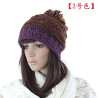 Wholesale womens lady beanie crochet knit beret hat tamhat cap barret High Grade Winter Hats NICE