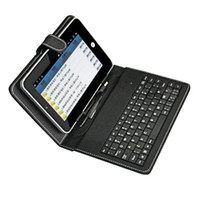 7'' USB keyboard flip Leather case Stand for 7 inch android ...