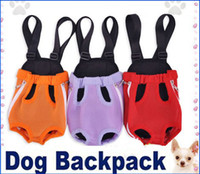 Wholesale Size Color Nylon Pet Dog Carrier Backpack Net Bag Any dog harness