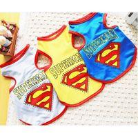 Wholesale New Dog Summer Mesh T Shirt Cute Vest Clothes Puppy Pet Superman Costumes