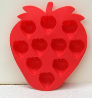 Wholesale Ice Cube Tray Mold silicone strawberry Shaped New Random Color