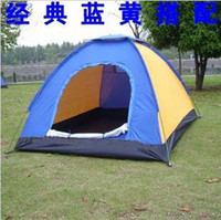 Wholesale Camping Tent For Two person Outdoor Tent Single Sheet Waterproof Yellow Blue Color Two Person Lovers