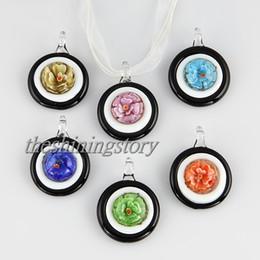 Nice flower inside Italian venetian lampwork blown murano glass pendants for necklaces jewelry cheap fashion jewerly Mup098