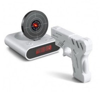 Wholesale 2012 New Arrives Unique quot LCD Laser Gun Target Shooting Alarm desk Clock Set