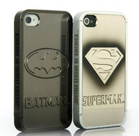 Wholesale 3D Cool hard plastic case for iphone S superman batman star wars electroplate cover Luxury