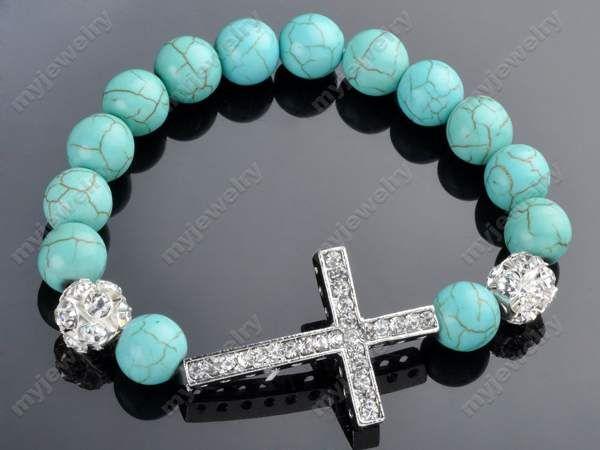 Beaded Sideways Cross Bracelet Sideway Cross Bracelet