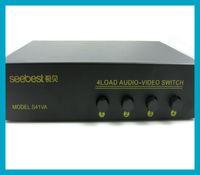 1pcX 4 Entrée 1 Sortie Composite RCA Vidéo Audio / Y-Pb-Pr Sélecteur de commutateur AV Splitter pour DVD TV