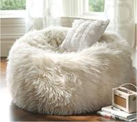 long fur beanbag lounge - Long fur soft beanbag cover extra elegant lounge bean bag