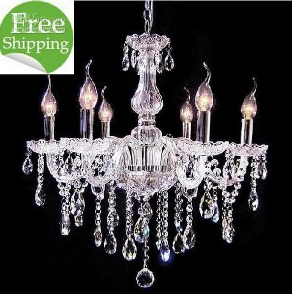 6 light cheap glass chandeliercrystal candle chandeliers lamp wholesale cheap chandelier lighting