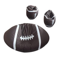 140 * 70cm bean bag leather - rugby style PU leather beanbag funny fancy bean bag