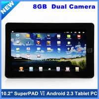 Wholesale 10 quot Flytouch SuperPAD gb Dual Camera Android Tablet PC with GPS WIFI Usb g Flash