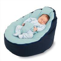 Wholesale original blue top plain baby beanbag sofa