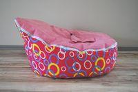 Wholesale cost fashion hot sale doomoo baby beanbag chair circle base design