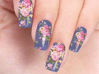 Wholesale beautiful nail salon workers sticker Decals nails Fashionable glamour nails decals