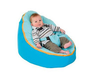 Wholesale cost micro soft suede turqoise baby beanbag for boy