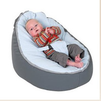 Wholesale cost lovely grey base doomoo baby beanbag chair