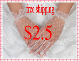 Wholesale Full Long finger Lace Bridal Wedding Dresses Gloves Accessories L
