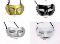 Wholesale Solid Color Men Half Faces Mask Mardi Gras Masquerade Venetian Halloween Costume Party MASKS