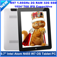 Wholesale 9 quot IPS HD Capacitive Screen Intel N455 G RAM G SSD OS Tablet PC GHz WiFi Usb G Bluetooth