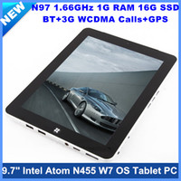 Wholesale 9 quot IPS Multi Capacitive OS Tablet PC Intel N455 G RAM G SSD GHz WiFi Usb G Bluetooth