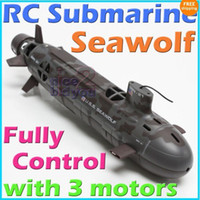 Submarines Military Plastic RC Navy Seawolf Submarine Radio Remote Control RTR Sub p1 1pcs