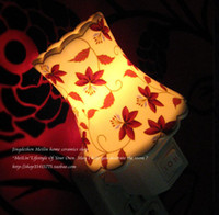 Wholesale 10pcs W elegance pottery night light incense light wall lamp bedlight with free incense