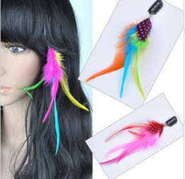 Wholesale Colorful Feather Hair Extension for Party Mixed Color Hair Extension Accessories
