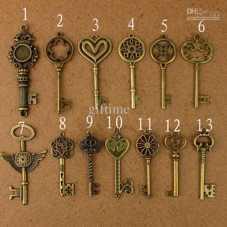 2017 of each vintage pendant antique bronze alloy key charms metal charm alloy charms from. Black Bedroom Furniture Sets. Home Design Ideas