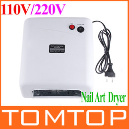 Wholesale 36W V V UV Nail Art Lamp Gel Curing Tube Light Dryer W UV Bulbs H4279