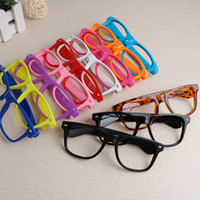 Wholesale colors rivet glasses frame Plain glasses spectacles protective glasses lo