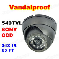 Wholesale 540TVL Inch Super HAD CCD CCTV Security Camera Indoor amp Outdoor Vandalproof IR Camera Supersaver