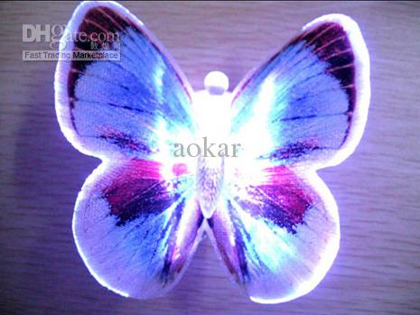 12 couleurs Lifeel Butterfly LED Night Lights Salle de mariage Décors Baby Night