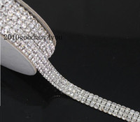 Wholesale R4 Yard rows Diamond A Rhinestone Wedding Cake Banding Trim Cake Ribbon Decoration